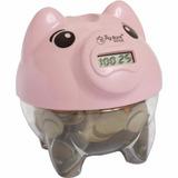 Cofre Cofrinho Porco Porquinho Digital Pig Bank Conta Moeda