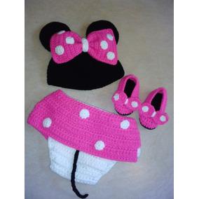 Disfraz Crochet Bebe Minnie. Para Book De Fotos