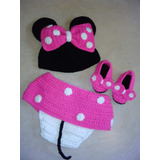 Disfraz Crochet Bebe Minnie. Para Book De Fotos