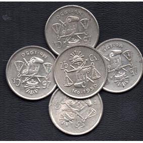Moneda Mexicana Plata 720 Balanza Circulada P19