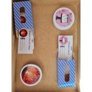 Sticker Cortados 120 Unidades 6x6 + 100 Tarjetas De Gracias