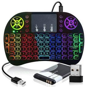 Mini Teclado Air Mouse Touch Sem Fio Tv Wireless Rgb Luz