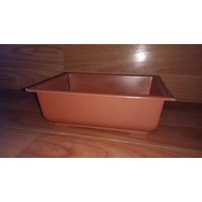 Maceta Plástica Para Bonsai Color Naranja Terracota- Jardin