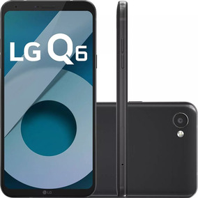 Celular Lg Q6 Preto 32gb Camera 13mp Tela Fullvision 5.5