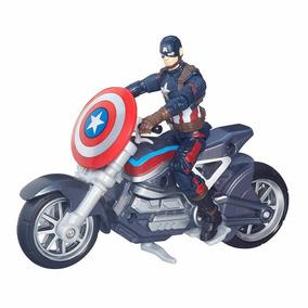 Boneco Capitão América Com Moto Guerra Civil Marvel Legends
