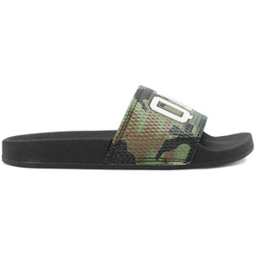 Chinelo Qix Slide Camo Preto/verde Original