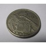 Moneda Antigua 5 Ptas 1957 Francisco Franco Caudillo España