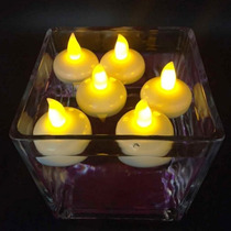 10 Velas Flotantes Calidas Led Cotillon Luminoso Carioca