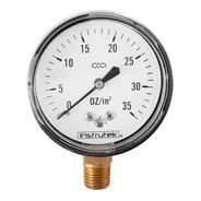 Manómetro 35 Oz In2 Para Gas Lp Y Natural Baja Presión