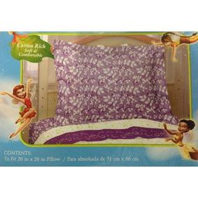 Hadas De Disney, Tinker Bell Almohada Sham.purple Y Blanco.