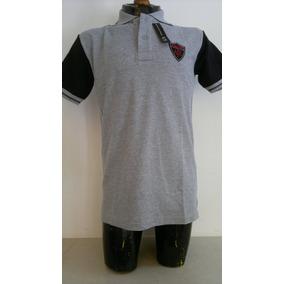 Camisa Playera Polo Color Negro Con Gris Armani Exchange