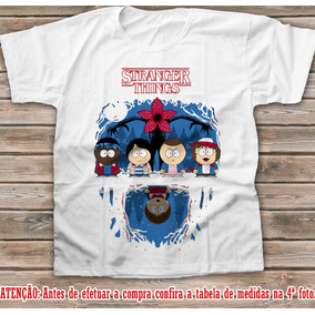 Camiseta Stranger Things South Park Eleven Will Mike Camisa