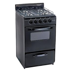 Cocina Martiri New Lujo 4 Hornallas 50 Cm Negra O Blanca