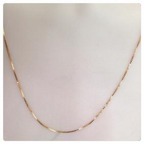Cordão Corrente Veneziana Grossa 60cm Em Ouro 18k 16 Gramas