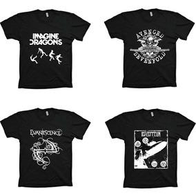 Camisetas Várias Bandas Rock - Ac Dc A7x Metallica Slipknot