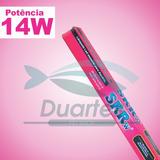 Lâmpada De Led Tubular T-8 14w Rosa 90cm Bivolt + Brinde