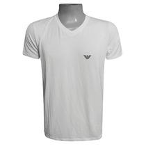 Camiseta Armani Camisa Gola V Branca