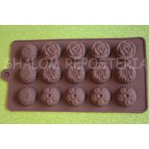 *molde Silicon 15 Flores M3 Gomita Jabon Fondant Chocolate*