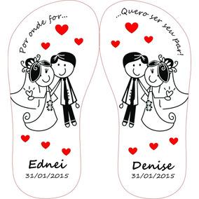 Chinelo Personalizado 40 Pares Para Casamento Promoção!!