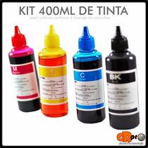 Tinta Para Impresora 400ml Y Sistema Continuo Kit Completo
