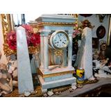 Reloj Guarnicion Francesa Antigua Pendulo Marmol Bronce 1848