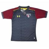 Camisa São Paulo Futebol Clube 2017 Cinza Treino Lançamento