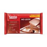 2 Super Barra De Chocolate Nestle Ao Leite 1kg Cada