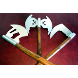 Set De Tres Hachas Medievales / Vikingas / Réplicas