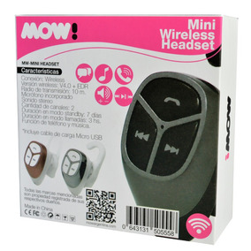 Auricular Manos Libres Mow Mw-mini / Wireless V4.0 / White