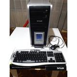 Combo Caja Atx Para Pc Delux Mf472 & Teclado & Mouse