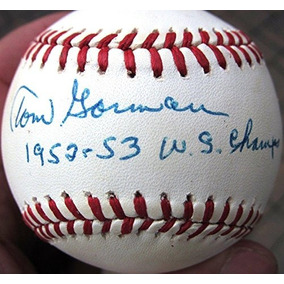 Bola Autografiada De Tom Gorman - Single D 92 Yankees 1952 1 0f1e9f49c0196