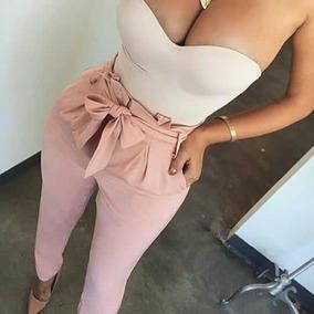 Pantalon De Dama Casual Con Lazo
