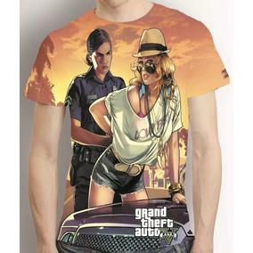 Camisa Game Camiseta Gta 5 V - Estampa Total Mod 2