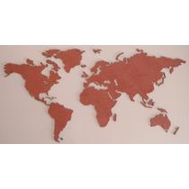 Mapamundi De Corcho 100x50cm En Colores Ideal Regalo