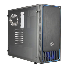 Gabinete Gamer Cooler Masterbox E500l Ventana Panel Azul Cta