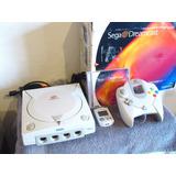 Consola Sega Dreamcast Completo Caja Control Disco Demo Mvu