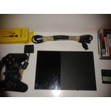 Playstation 2 Slim + 1ctrl + Cables + Memory Card + Juegos