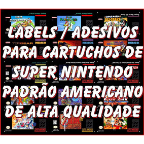 Label Etiqueta Super Nintendo Cartucho - Veja Fotos Reais