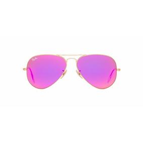Gafas Ray Ban Aviador Barbie Pink Aviator 3026 Espejo