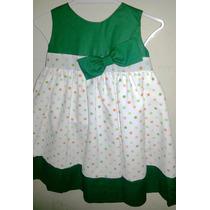 Vestido Casual - Fiesta Para Niñas Con Pepas
