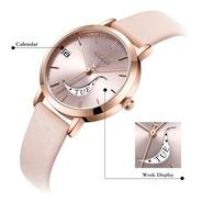 Reloj Julius Ja-1076 Mujer Dama Malla Cuero. Envio Gratis