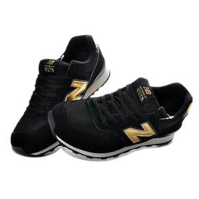 zapatillas new balance negras y doradas mujer