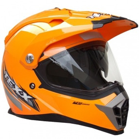 Capacete Texx Mx Double Vision Off Road Cross 58 Laranja