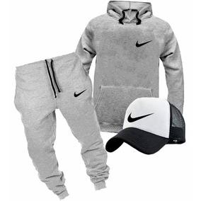Kit Nike Moletom Boné Trucker Calça Moletom Academia Bone