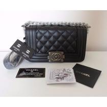 Bolsa Chanel Le Boy 25 Cm Na Caixa Original - Sedex Gratis