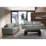 Sofa 3 Cuerpos Tapizado En Tela