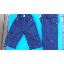 Pantalon De Jean Pañalero Para Bebes - 6 -12 Meses.-
