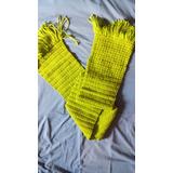 Cachecol De Croche De Lã Artesanal