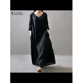 Lindo Vestido De Linho Com Algodão Importado!