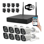 Kit 8 Cámaras Wifi Full Hd Ip Nvr Inalámbrico Exterior 1080p
